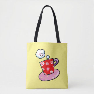 cute cup of coffee tote bag