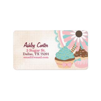 Cute Cupcake Address Label