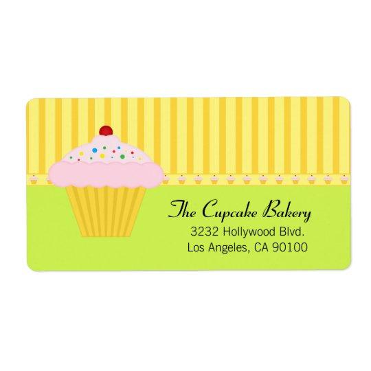 Cute Cupcake Bakery Shipping Label
