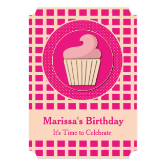 Cute Cupcake Birthday Party Invitations Custom Invites