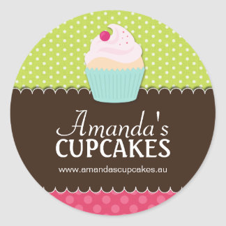 Cute Cupcake Box or Jar Stickers