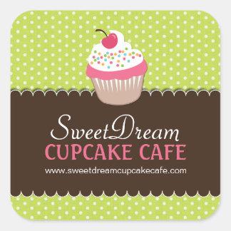 Cute Cupcake Box or Jar Stickers