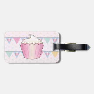 Cute Cupcake Bunting Pattern Luggage Tag
