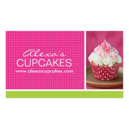 cute cupcake business card zazzle. Black Bedroom Furniture Sets. Home Design Ideas