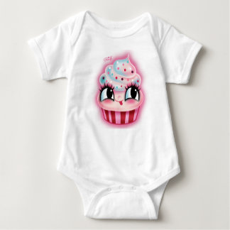 Cute Cupcake by Fluff Baby Bodysuit