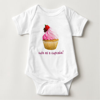 cute cupcake design baby bodysuit