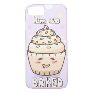 "Cute Cupcake ""I'm So Baked"" iPhone 8/7 Case"