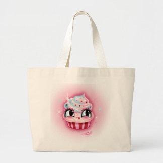 Cute Cupcake Large Tote Bag