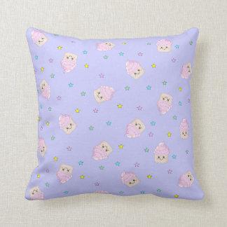 Cute Cupcake pattern lilac Cushion