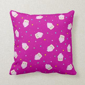 Cute Cupcake pattern Magenta Pink Cushion