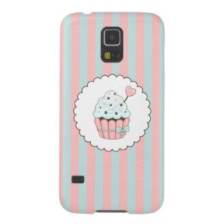 Cute Cupcake Pink & Mint Blue Design Galaxy S5 Cover