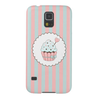 Cute Cupcake Pink & Mint Blue Design Cases For Galaxy S5