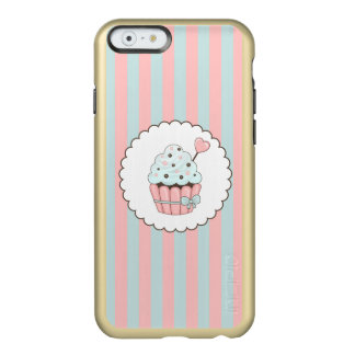 Cute Cupcake Pink & Mint Blue Design Incipio Feather® Shine iPhone 6 Case