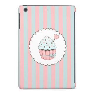 Cute Cupcake Pink & Mint Blue Design iPad Mini Retina Cover
