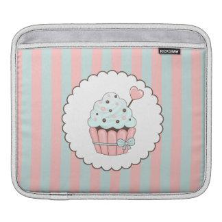 Cute Cupcake Pink & Mint Blue Design iPad Sleeve