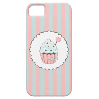 Cute Cupcake Pink & Mint Blue Design iPhone 5 Case