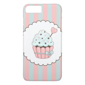 Cute Cupcake Pink & Mint Blue Design iPhone 7 Plus Case