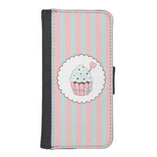 Cute Cupcake Pink & Mint Blue Design Phone Wallet Case