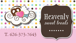 Heart cookie business cards business card printing zazzle uk cute cupcake pretzel and cookie business card colourmoves