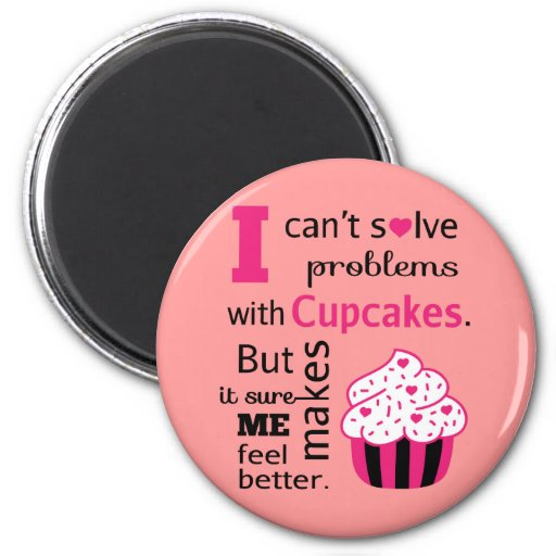 Cute Cupcake quote, Happiness Refrigerator Magnet