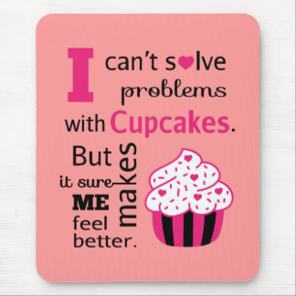 Cute Cupcake quote Happiness Mousepad