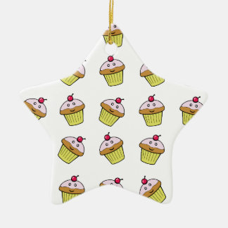 cute cupcake tile ceramic star decoration