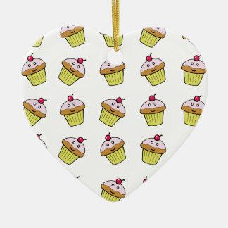 cute cupcake tile christmas ornament