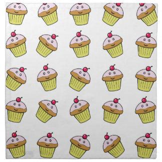 cute cupcake tile napkin