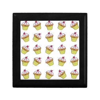 cute cupcake tile small square gift box