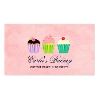 Cute Cupcake Trio Business Card