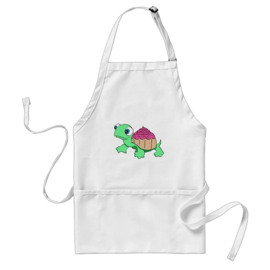 Cute cupcake turtle standard apron