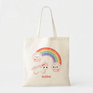 Cute Cupcake Unicorn Tote Bag