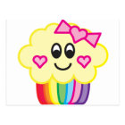 Cute Cupcake with Love Heart Bow Postcard