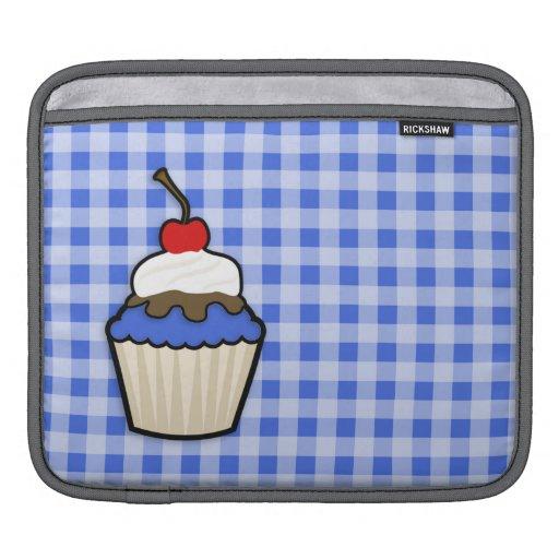Cute Cupcake with Royal Blue Icing iPad Sleeves