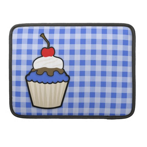 Cute Cupcake with Royal Blue Icing Sleeve For MacBooks