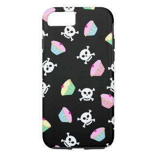 Cute Cupcakes and Skulls Emo iPhone 7 case