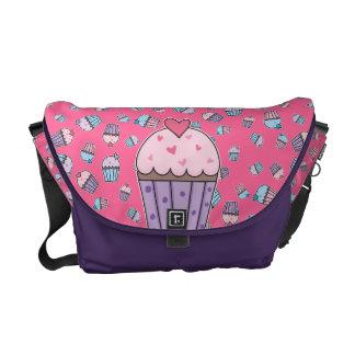 Cute Cupcakes (blue/pink/purple) Messenger Bag
