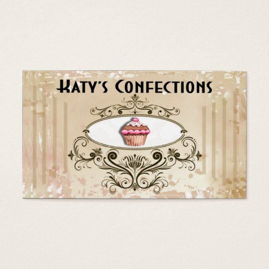 Cute Cupcakes: Confections Fancy Desserts Pastries Business Card