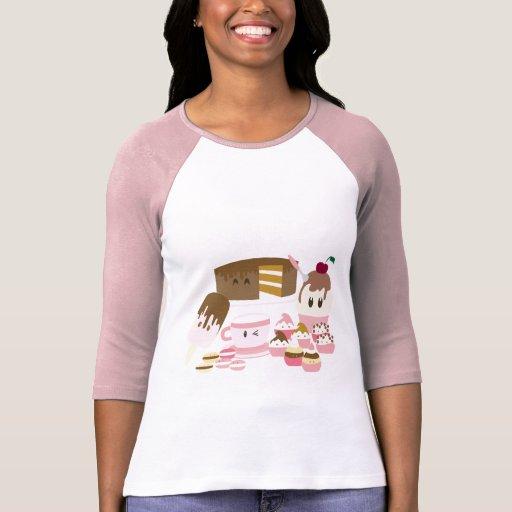 Cute cupcakes, icecreams T-shirt