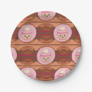 Cute Cupcakes Paper Plate