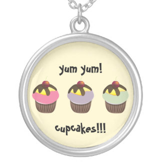 Cute cupcakes red cherry Necklace