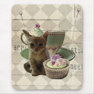 Cute Cupcat II kitten mousepad