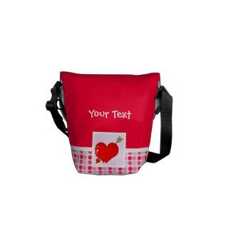 Cute Cupid Heart & Arrow Courier Bag