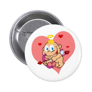 Cute Cupid with Bow and Arrow 6 Cm Round Badge