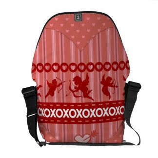 Cute Cupids and Hearts Valentine's Day Gifts Courier Bag