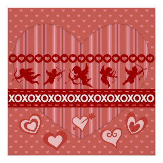 Cute Cupids and Hearts Valentine's Day Gifts Print