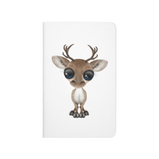 Cute Curious Baby Reindeer with Big Eyes Journal