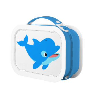 Cute Curious Cartoon Dolphin Lunch Box