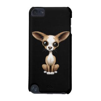 Cute Curious Chihuahua with Large Ears on Black iPod Touch 5G Case