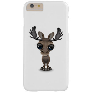 Cute Curious Moose with Big Eyes Barely There iPhone 6 Plus Case